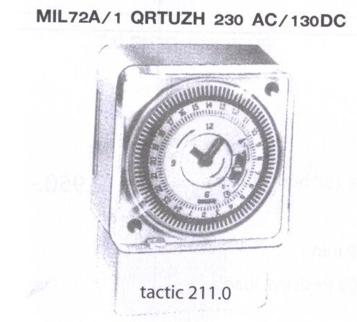 MIL72A/1 QRTUZH 230VAC/130DC TACTIC211