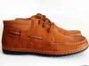 รองเท้าหนังหุ้มข้อ สีน้ำตาล