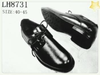 ขายส่ง รองเท้าคัชชูผู้ชาย หัวกลม สีดำ หนังด้าน ผูกเชือกใส่ทำงาน