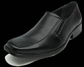 รองเท้าหนังคัชชูผู้ชายใส่ทำงาน ไชล์เล็กสำหรับทอม สีดำ หนังด้าน