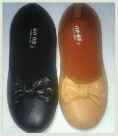 รองเท้าคัชชูแฟชั่น ผู้หญิง น่ารักเบอร์ใหญ่ ไชล์พิเศษ ส้นเตี้ย