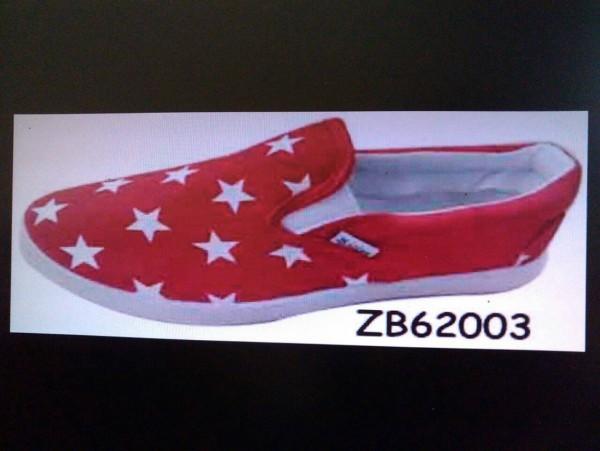 รองเท้าผ้าใบแฟชั่น ขายส่ง ผู้หญิง ลายน่ารัก สีแดง ใม่ผูกเชือก ทรงแวน