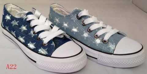ขายส่งรองเท้าผ้าใบ ผู้หญิงแฟชั่น น่ารัก ผูกเชือก ลายดาว