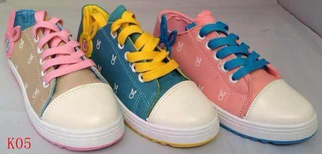 รองเท้าผ้าใบแฟชั่น ผู้หญิง ผูกเชือก น่ารัก ขายส่ง สีน่ารัก ลายกระต่าย