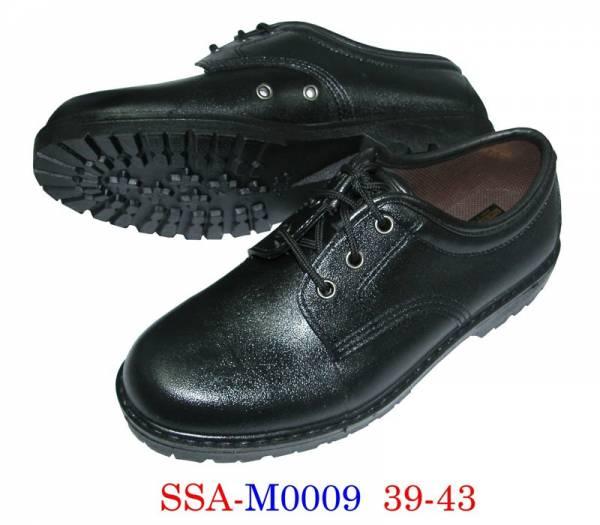 KITO รองเท้าคัชชูสีดำยาง หัวเหล็กใส่ทำงานผูกเชือก