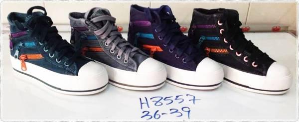 ขายส่งรองเท้าผ้าใบ ผู้หญิง สไตล์เกาหลี หู้มข้อ ผูกเช์อกสไตล์เกาหลี