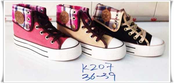 รองเท้าผ้าใบ ทรงเกาหลีหุ้มข้อ ผู้หญิง  ขายส่ง พื้นสูง