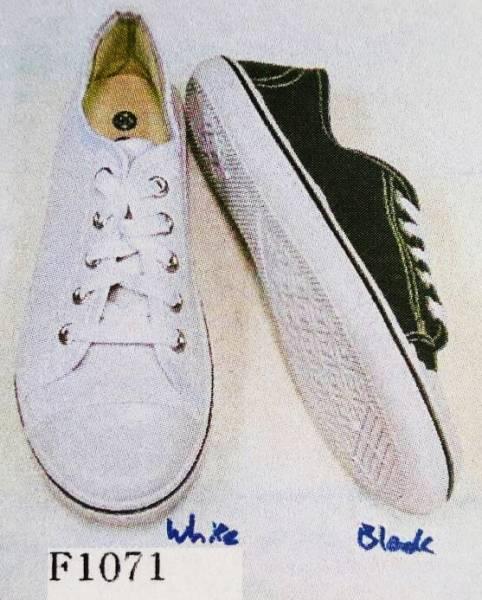 รองเท้าผ้าใบแฟชั่น ผู้หญิง ผูกเชือก ไม่มีลาย ขายส่ง