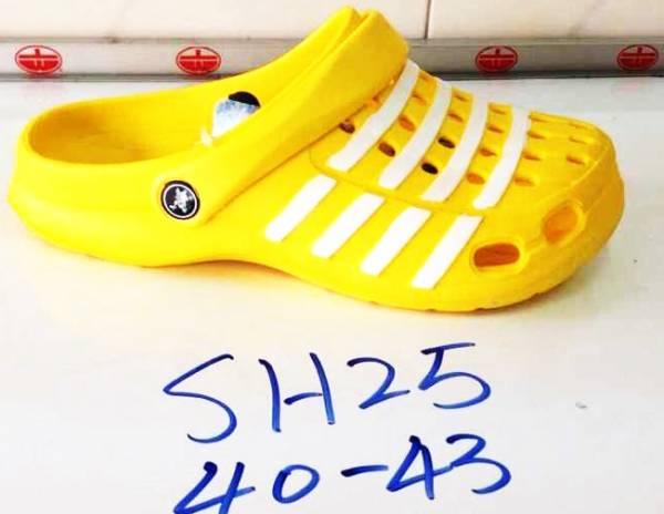 รองเท้าหัวโต ผู้ชาย ขายส่ง สีเหลือง รัดส้นข้างหลังได้