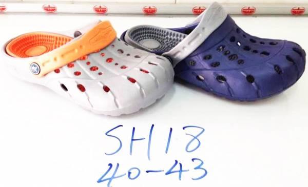 รองเท้าหัวโตยาง ผู้ชาย รัดส้นข้างหลัง ขายส่ง ไม่แพง มีปุ่มนวดด้วย