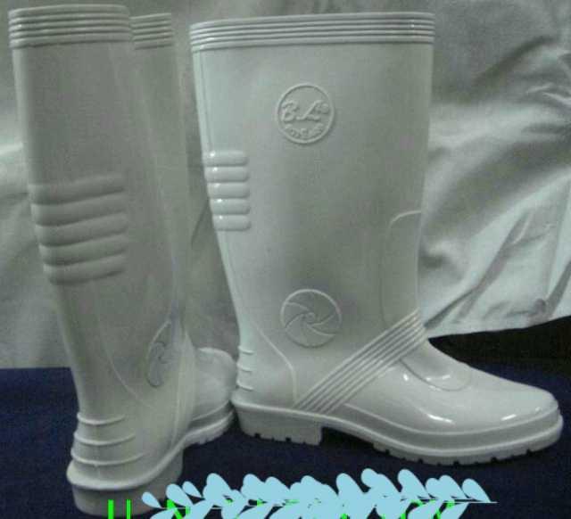 รองเท้าบู๊ตยาง สีขาว ยาว  โรงงาน ขายส่ง