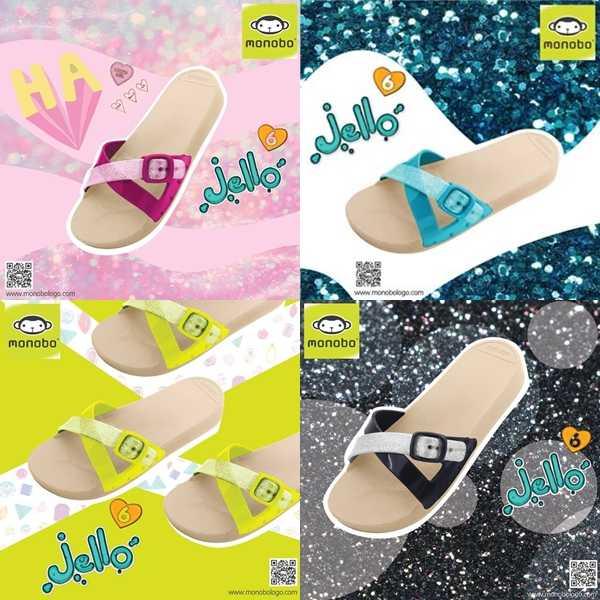 MONOBO รุ่น Jello6 รองเท้าแตะยางสวม โมโนโบ รุ่น เจลโล่ 6