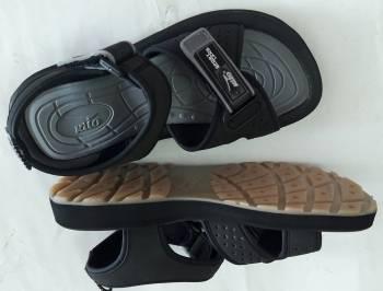 รองเท้าแตะรัดส้น สตรี KITO สีดำ พื้นยาง  ปรับข้างหน้าได้