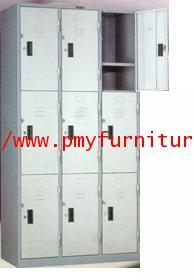 pmy8-8 ตู้ล็อคเกอร์ 9 บานประตู