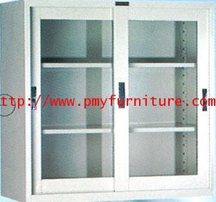 pmy8-14 ตู้เหล็กบานเลื่อนกระจก ขนาด 3 ฟุต
