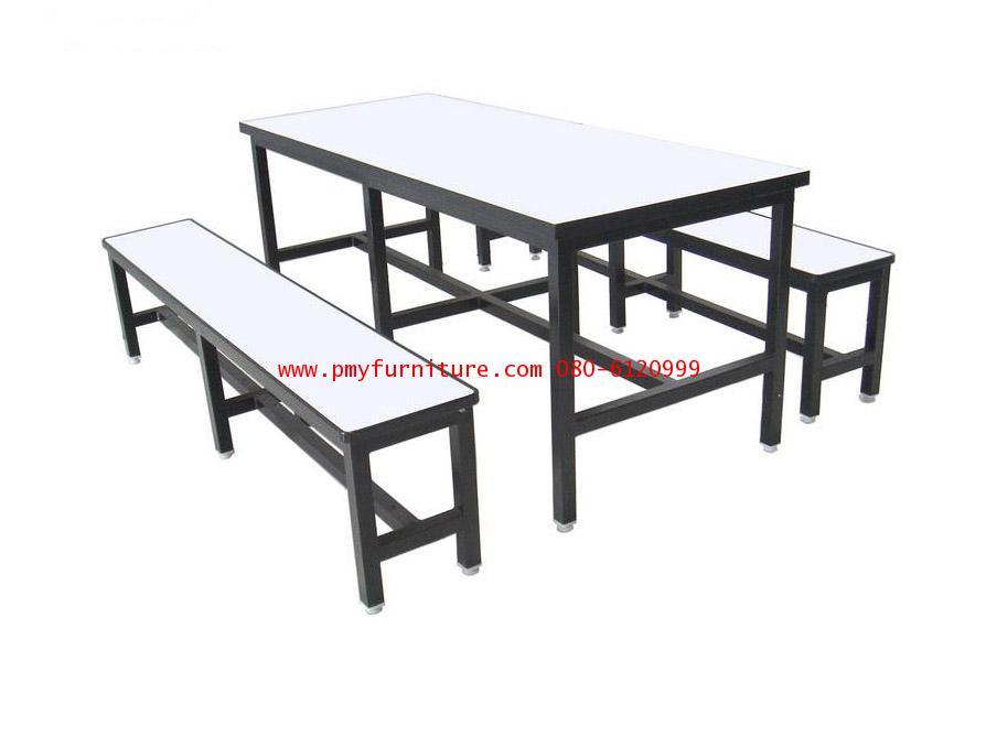 pmy5-1 โต๊ะโรงอาหาร หน้าโฟเมก้าขาว ขาตาย