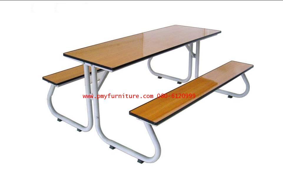 pmy5-2 โต๊ะโรงอาหารขาเขาควาย หน้าโฟเมก้าสีบีช
