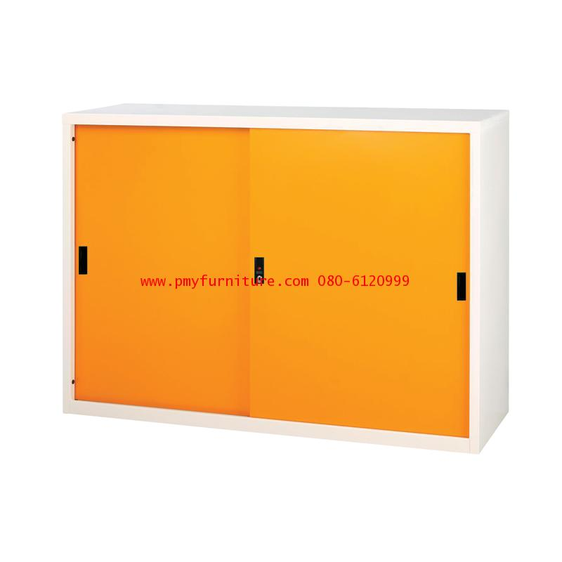pmy14-3 ตู้บานเลื่อนทึบ สีสัน ขนาด 4 ฟุต
