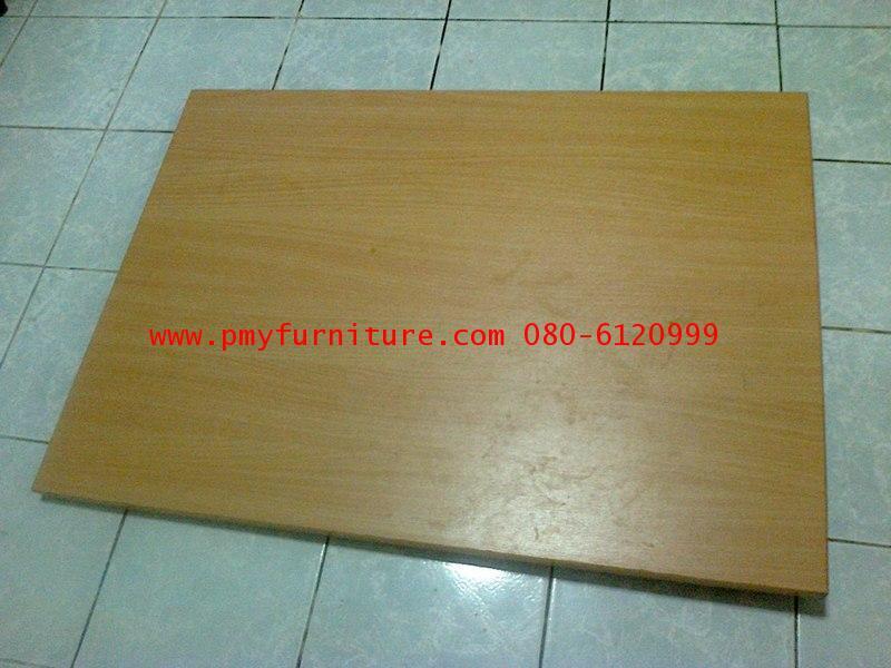 pmy17-21 หน้าโต๊ะเรียนไม้อัดปิดผิวเมลามีนสีบีช ใช้ได้ทั้ง 3 ระดับ