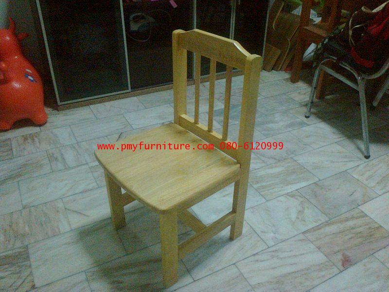 pmy22-2 เก้าอี้เรียนไม้ยางระดับประถมศึกษา