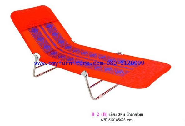 pmy27-5 เตียง3พับผ้าลายไม้ ขนาด 61*185*28 ซม.