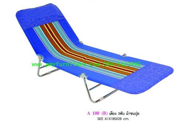 pmy27-6 เตียง3พับผ้าขนปุย ขนาด 61*185*28 ซม.