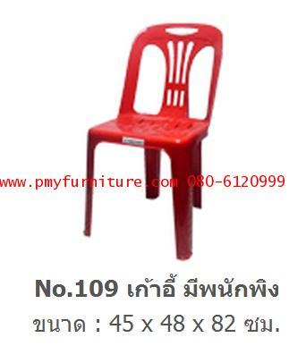 pmy20-25 เก้าอี้พลาสติกมีพนักพิง เกรด B NO.109
