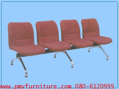 pmy12-4 เก้าอี้แถวเบาะกำมะหยี่ 4 ที่นั่ง