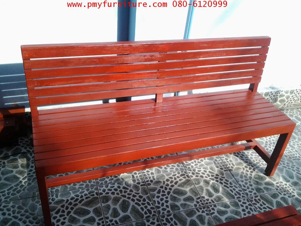 pmy19-5 ม้านั่งสนาม หน้าไม้ระแนงทั้งตัว
