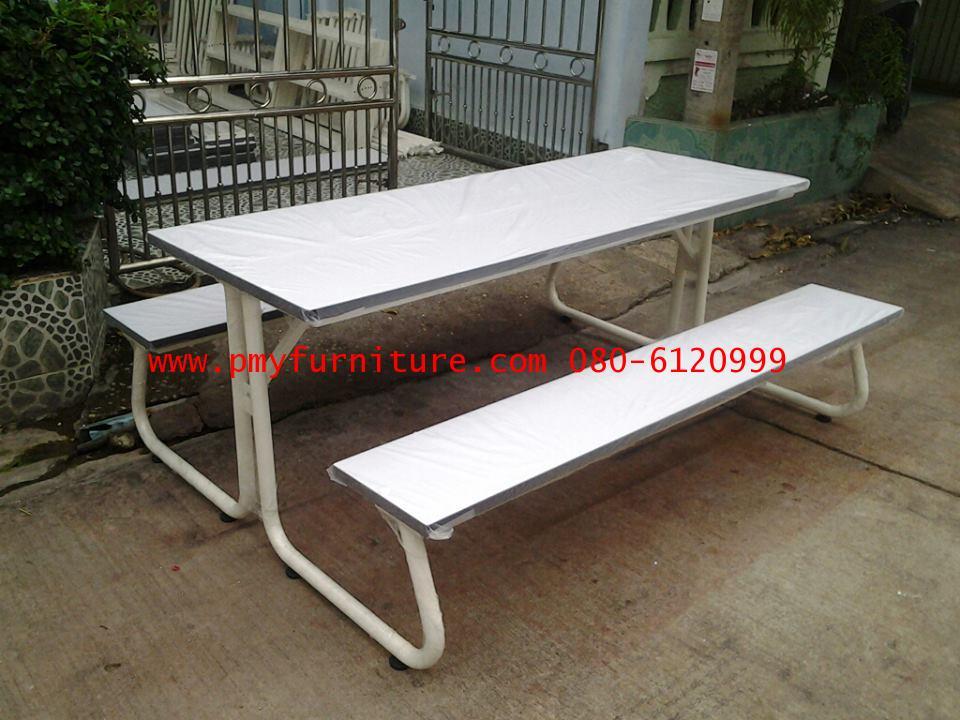 pmy5-4 โต๊ะโรงอาหารขาเขาควาย หน้าโฟเมก้าขาว