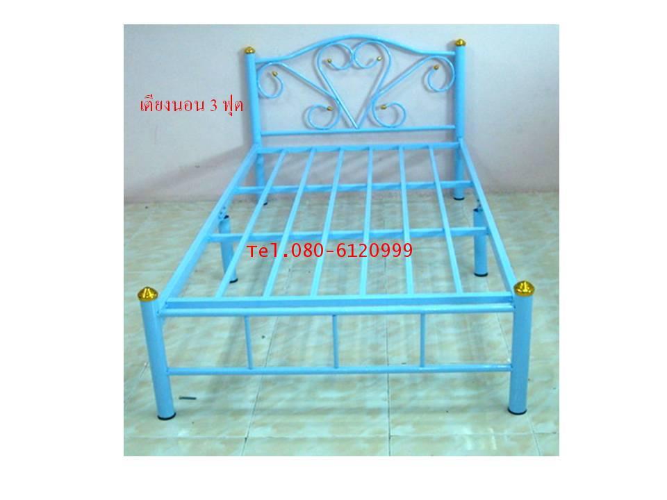 pmy34-1 เตียงนอนเหล็ก 3 ฟุต