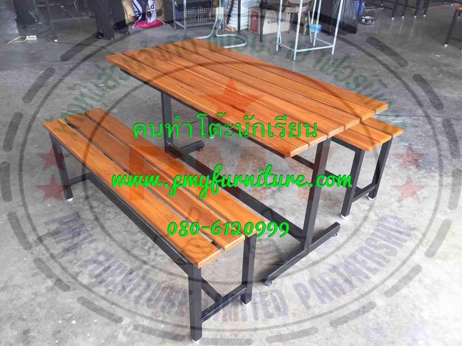 pmy5-29 โต๊ะโรงอาหาร ขาตัวไอ 120 ซม.