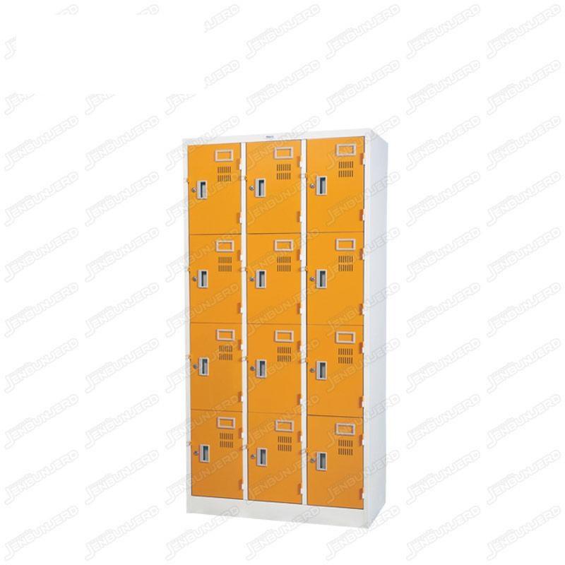 pmy14-11 ตู้ล็อคเกอร์ แบบ 12 บานประตู สีส้ม