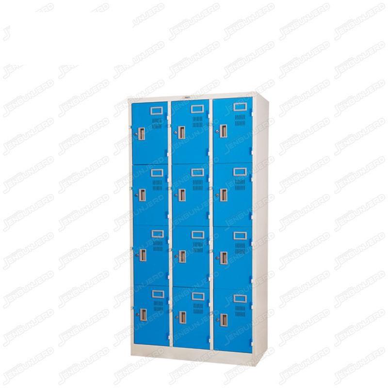 pmy14-12 ตู้ล็อคเกอร์ แบบ 12 บานประตู สีฟ้า