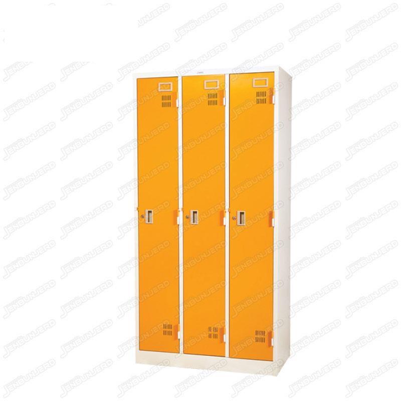 pmy14-2 ตู้ล็อคเกอร์ แบบ 3 บานประตู สีส้ม