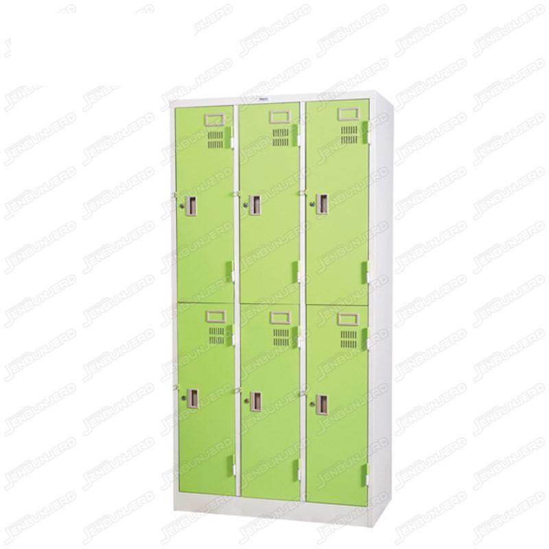 pmy14-4 ตู้ล็อคเกอร์ แบบ 6 บานประตู สีเขียว