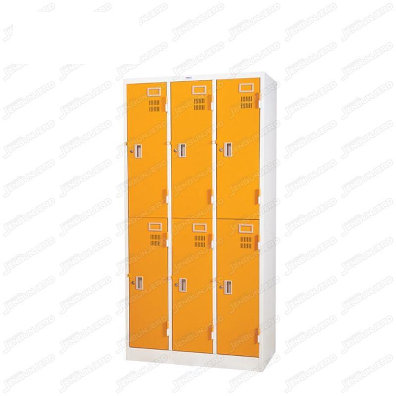 pmy14-5 ตู้ล็อคเกอร์ แบบ 6 บานประตู สีส้ม
