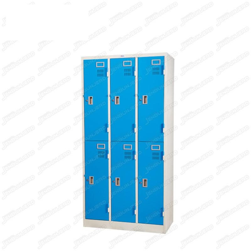 pmy14-6 ตู้ล็อคเกอร์ แบบ 6 บานประตู สีฟ้า