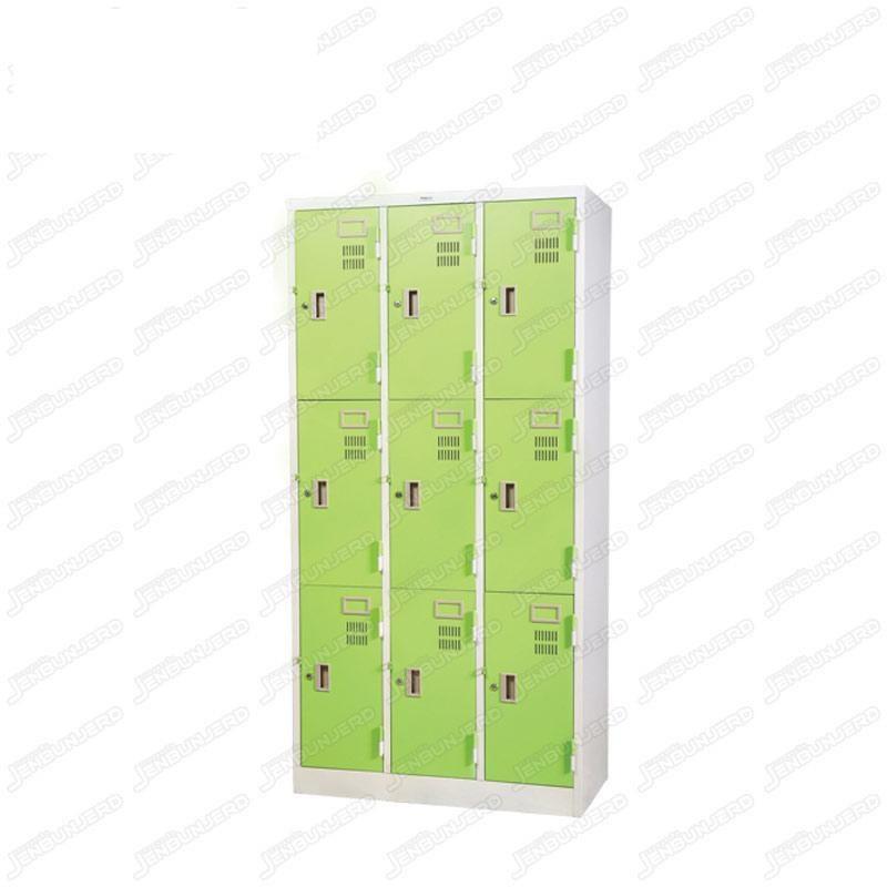 pmy14-7 ตู้ล็อคเกอร์ แบบ 9 บานประตู สีเขียว