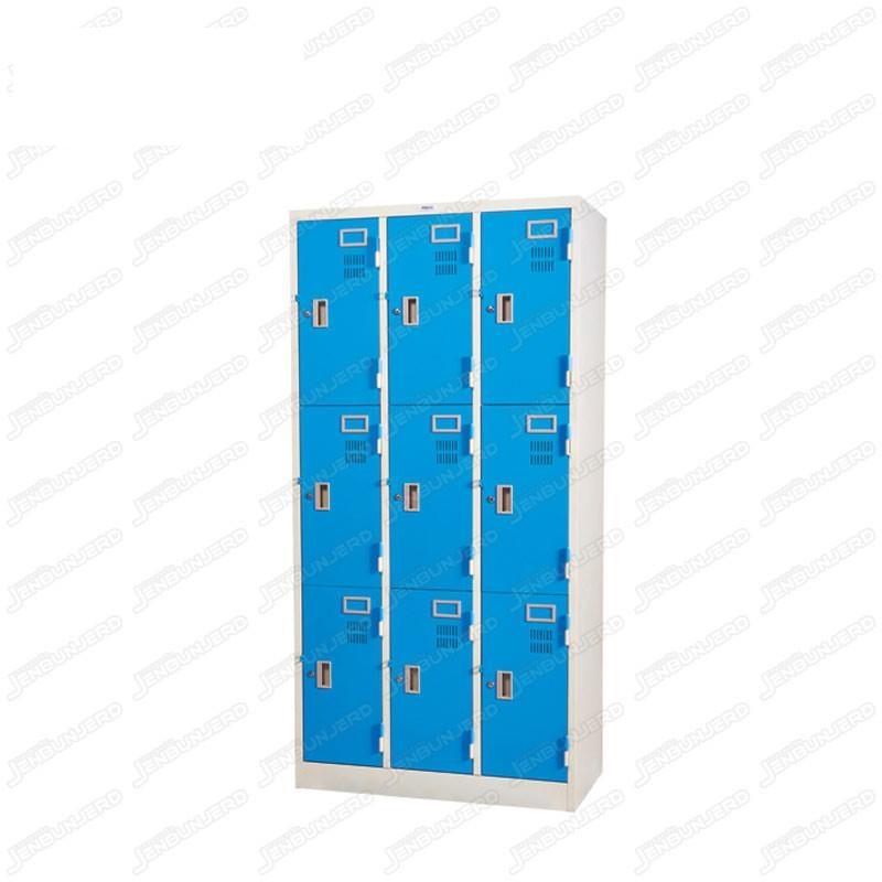 pmy14-9 ตู้ล็อคเกอร์ แบบ 9 บานประตู สีฟ้า