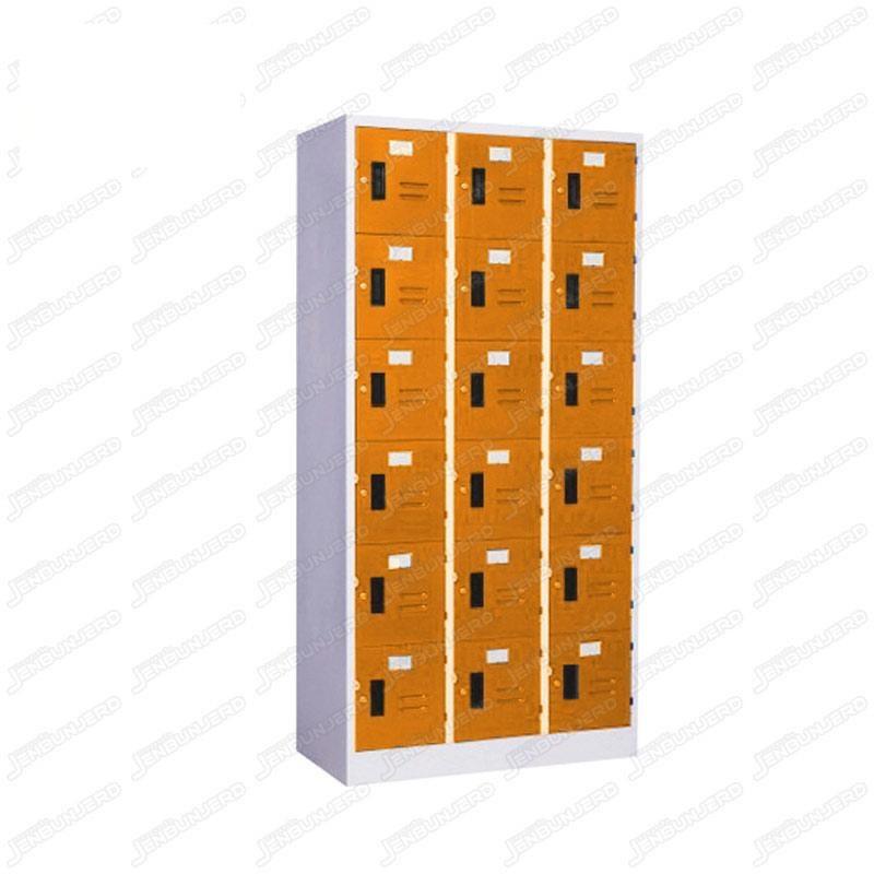 pmy14-14 ตู้ล็อคเกอร์ แบบ 18 บานประตู สีส้ม