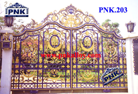 PNK.203 ประตู **ลายมงกุฎดอกบัว**