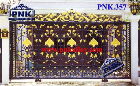PNK.357 ประตู **ลายพานกุหลาบ**