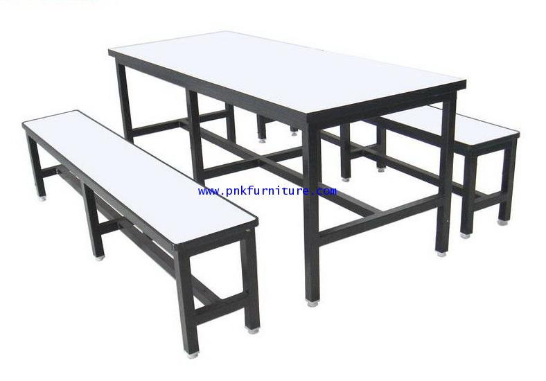 โต๊ะโรงอาหารหน้าโฟเมก้าขาว kkw2-1
