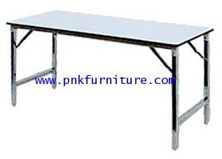 โต๊ะพับเอนกประสงค์หน้าโฟเมก้าขาว kkw2-3