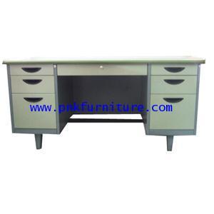 โต๊ะทำงานเหล็ก 7 ลิ้นชัก หน้าลายไม้ kkw3-4