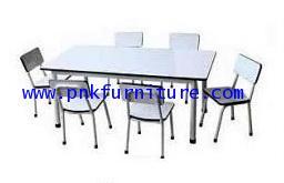 โต๊ะเก้าอี้นักเรียนระดับอนุบาลแบบกลุ่ม หน้าโฟเมก้า kkw1-23