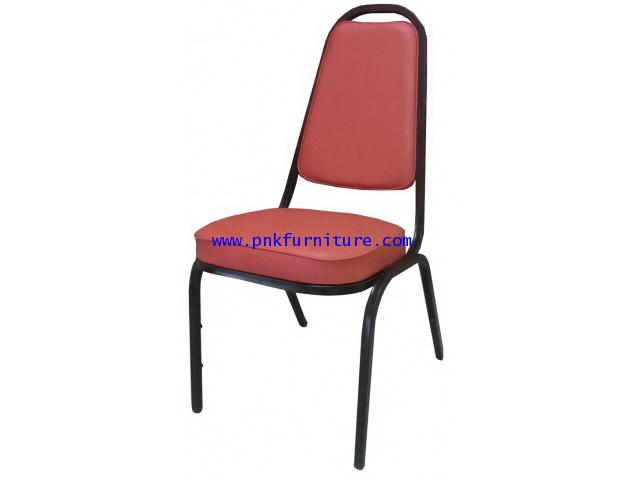 kkw7-1 เก้าอี้จัดเลี้ยง แบบขาเหล็กพ่นสีดำ
