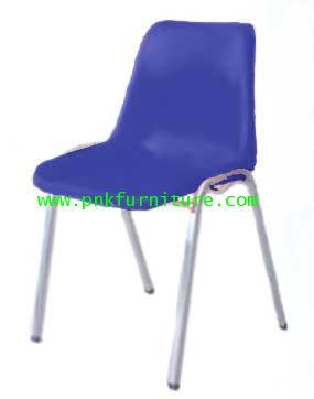 kkw7-4 เก้าอี้โพลี โครงขาเหล็กชุป หนา 1 มิล