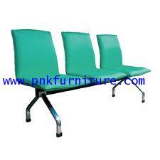 kkw8-1 เก้าอี้แถว 3 ที่นั่ง โครงชุปโครเมี่ยม